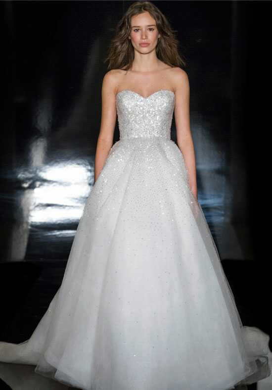 Reem Acra Bianca Ball Gown Wedding Dress