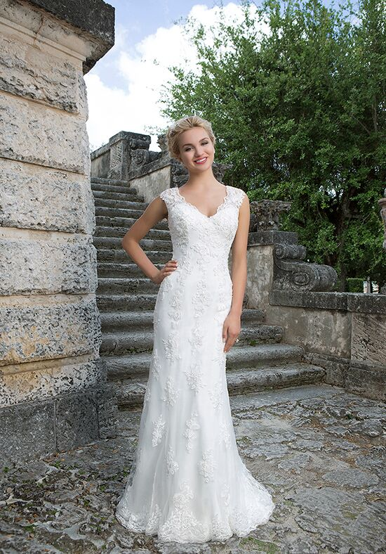 Sincerity Bridal 3896 Sheath Wedding Dress