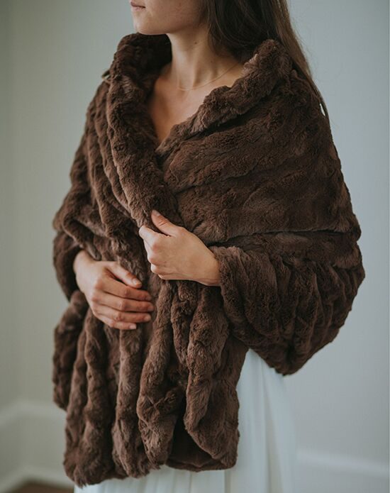 Davie & Chiyo | Faux Fur Shawls Yorkshire Fur Shawl Brown, Ivory, Gray Wrap
