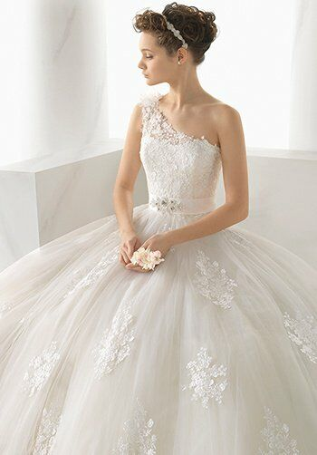 Alma Novia 124 Nebraska Ball Gown Wedding Dress