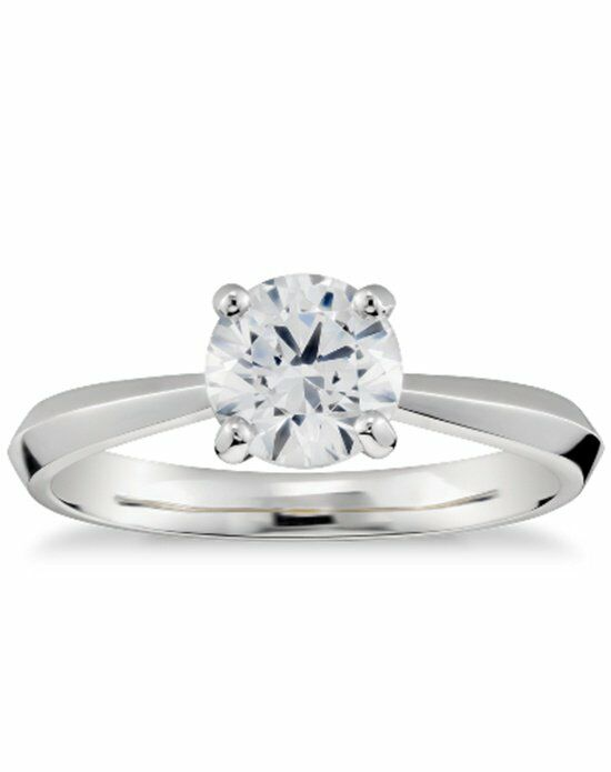 Zac Posen Truly Zac Posen Knife-Edge Solitaire Engagement Ring in Platinum BxjGxQP