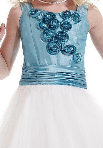Pretty Girls 53113 Blue Flower Girl Dress