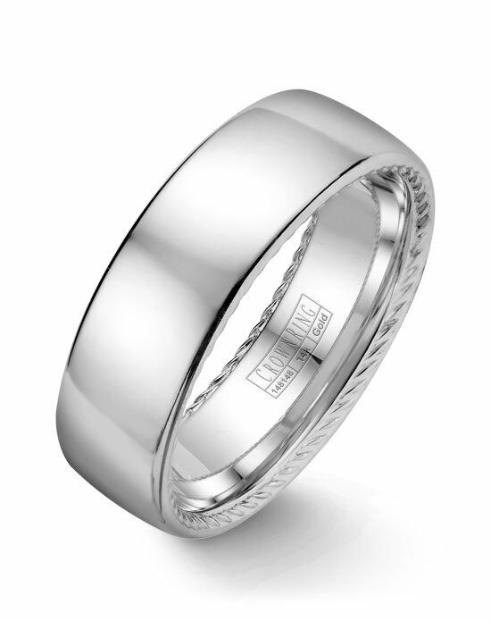 CrownRing WB-012R7W-M10 White Gold Wedding Ring