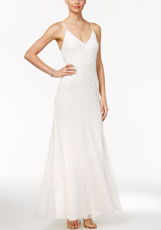 Adrianna Papell Wedding Dresses Adrianna Papell Beaded Tulle A-Line Gown A-Line Wedding Dress