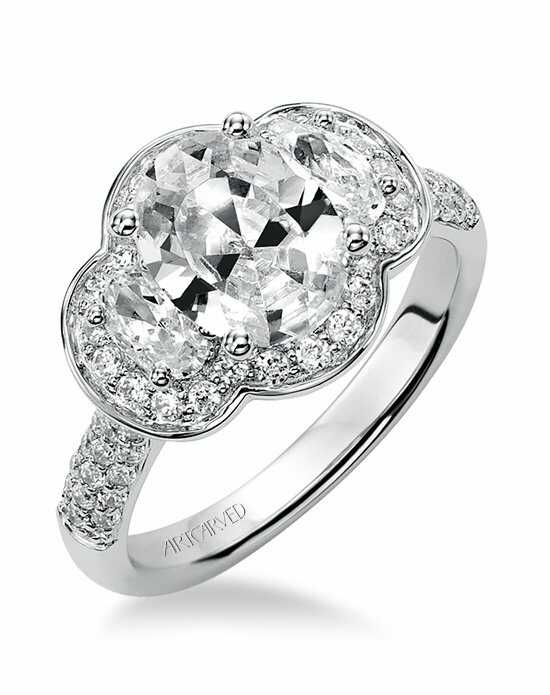 ArtCarved Oval Cut Engagement Ring