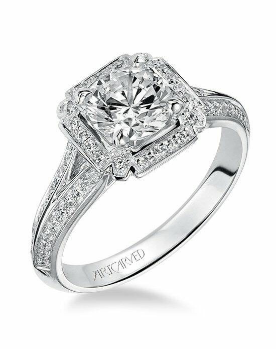 ArtCarved 31-V476ERW Engagement Ring photo