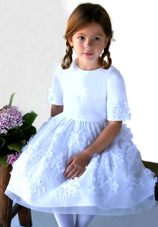 Isabel Garretón Bliss White Flower Girl Dress
