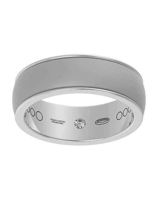 Everband 6 mm Linea with Matte Platinum, Gold, Rose Gold, White Gold Wedding Ring