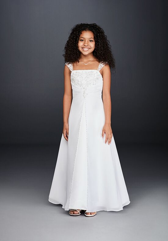David's Bridal Flower Girl David's Bridal Style FG9010 Ivory Flower Girl Dress