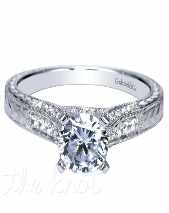 Engaged by Gabriel & Co. W-ER7992D4 White Gold Wedding Ring