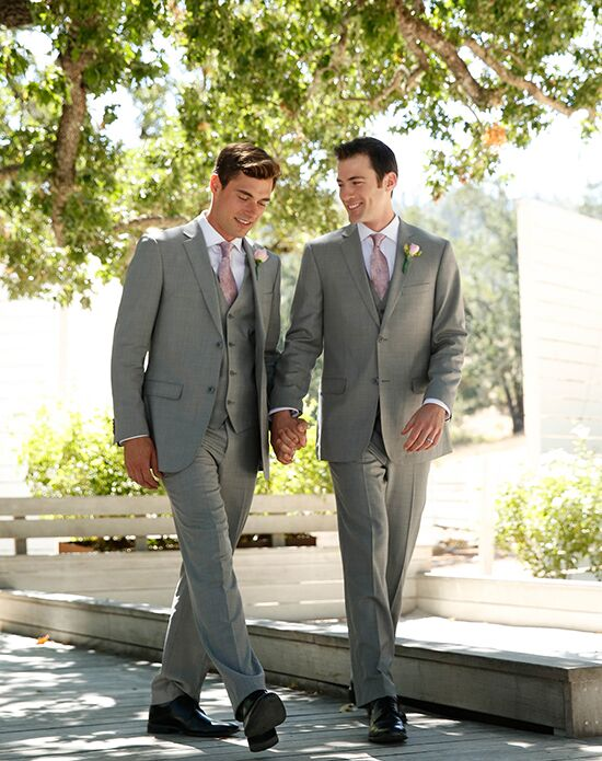 Generation Tux Notch Lapel Modern Fit Light Gray Suit Wedding ...