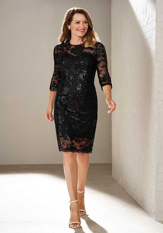 Jasmine Black Label M200015 Black Mother Of The Bride Dress