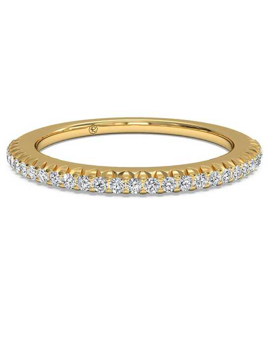 Ritani Women's Open Micropave Diamond Wedding Band - in 18kt Yellow Gold (0.13 CTW) Gold Wedding Ring