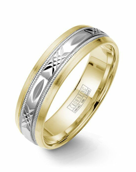 CrownRing WB-7000-M10 Gold Wedding Ring