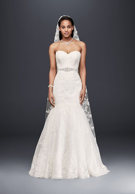 David's Bridal David's Bridal Collection Style V3680 Mermaid Wedding Dress