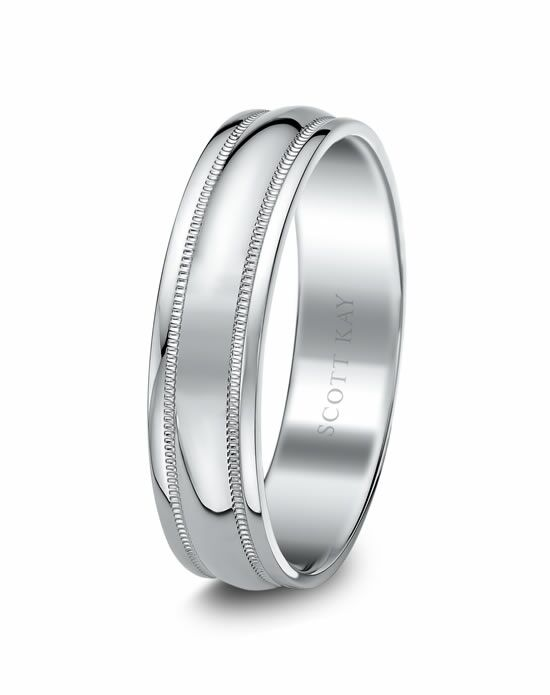 Scott Kay C0778B65-6 Platinum Wedding Ring