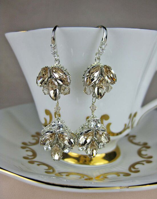 Everything Angelic Chandra Earrings - e304 Lt Silk Wedding Earring photo