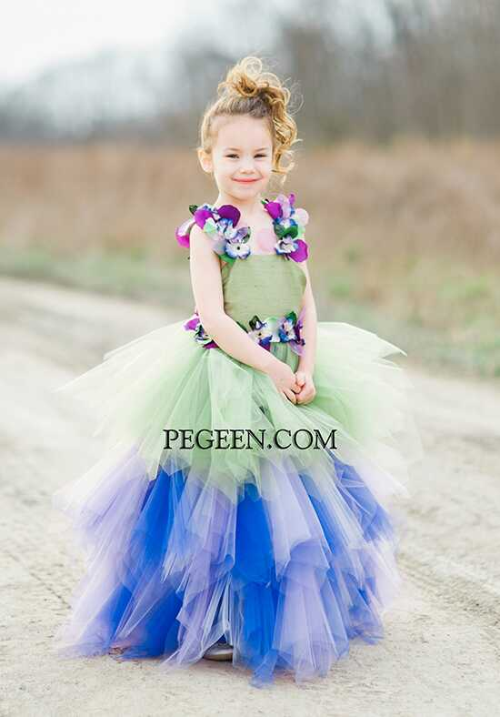 Pegeen.com 920 Yellow Flower Girl Dress