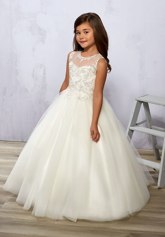 Cupids by Mary's F574 Ivory Flower Girl Dress