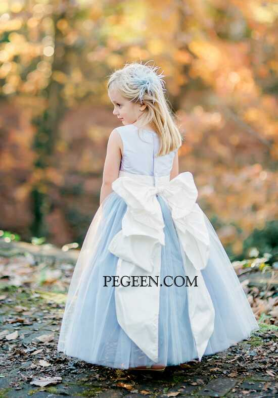 Pegeen.com 402 c Blue Flower Girl Dress