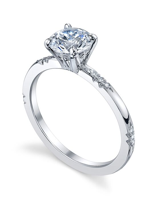 Michael B. Round Cut Engagement Ring