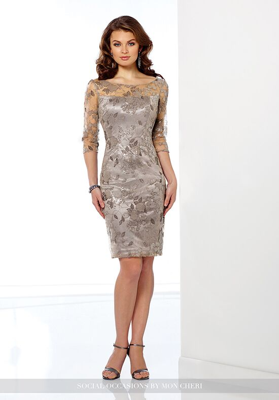 Social Occasions by Mon Cheri 216872 Champagne Mother Of The Bride Dress