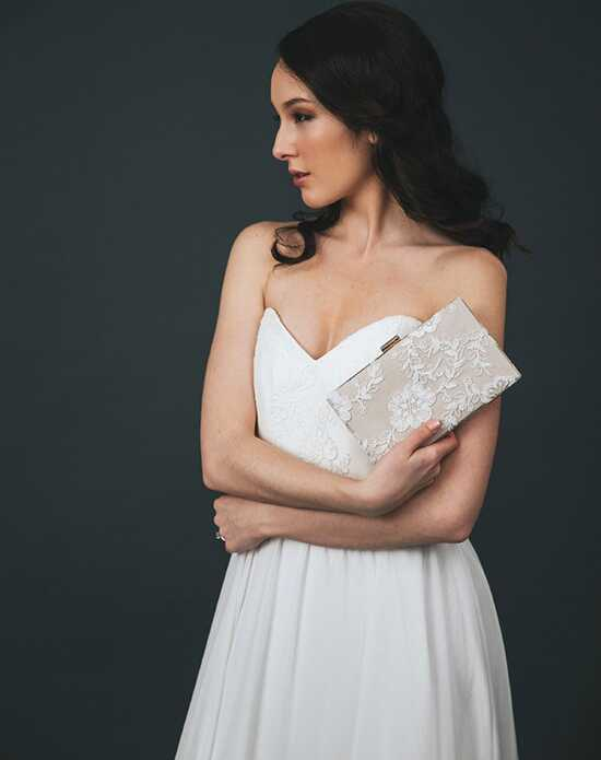 Davie & Chiyo | Clutch Collection Charlotte Box Clutch: Champagne Gold, Ivory, Champagne Clutches + Handbag