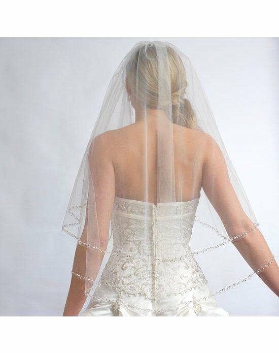 USABride 2 Layer, Priscilla Pearl Beaded Edge Veil VB-5011 Veil