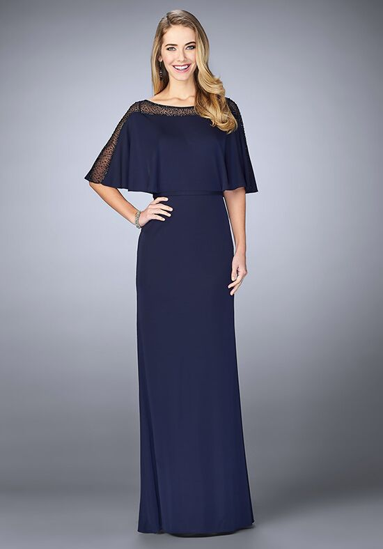 La Femme Evening 23113 Blue Mother Of The Bride Dress