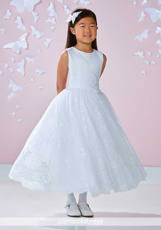 Joan Calabrese by Mon Cheri 117343 White Flower Girl Dress