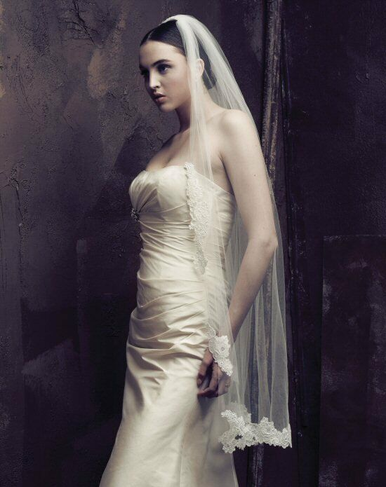 Paloma Blanca Veils Collection V415F Ivory Veil