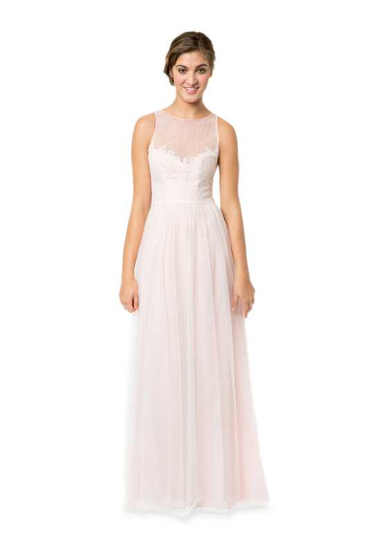 Bari Jay Bridesmaids 1580 Illusion Bridesmaid Dress
