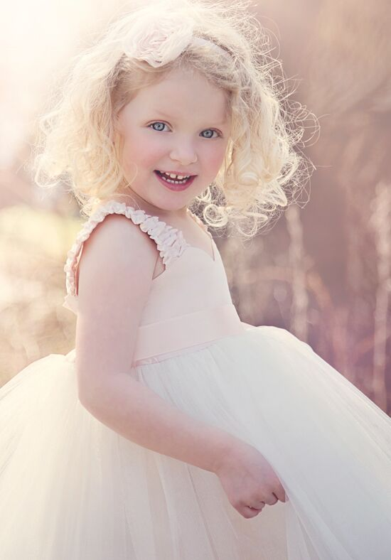 FATTIEPIE Blush Ivory Flower Girl Dress