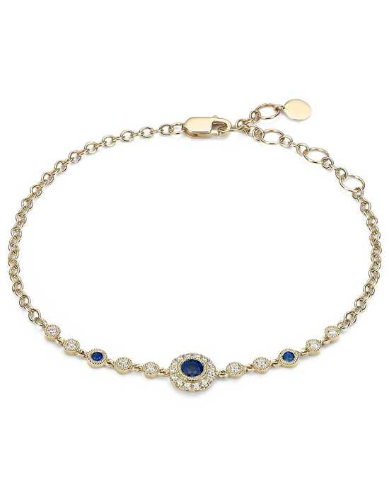 Blue Nile Sapphire and Diamond Vintage Inspired Bracelet Wedding Bracelet photo