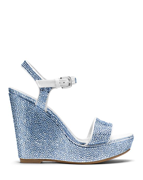 Stuart Weitzman Single Wedge Light Sapphire Pave Crystals