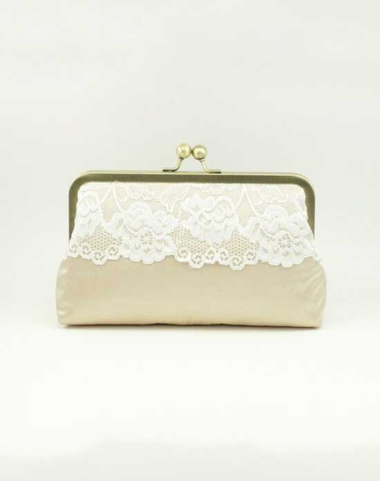 Davie & Chiyo | Clutch Collection Bijou Clutch: Ivory on Champagne Ivory, Champagne Clutches + Handbag