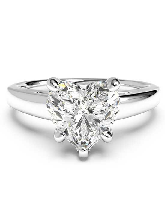 ritani solitaire diamond cathedral engagement ring - Heart Shaped Wedding Rings