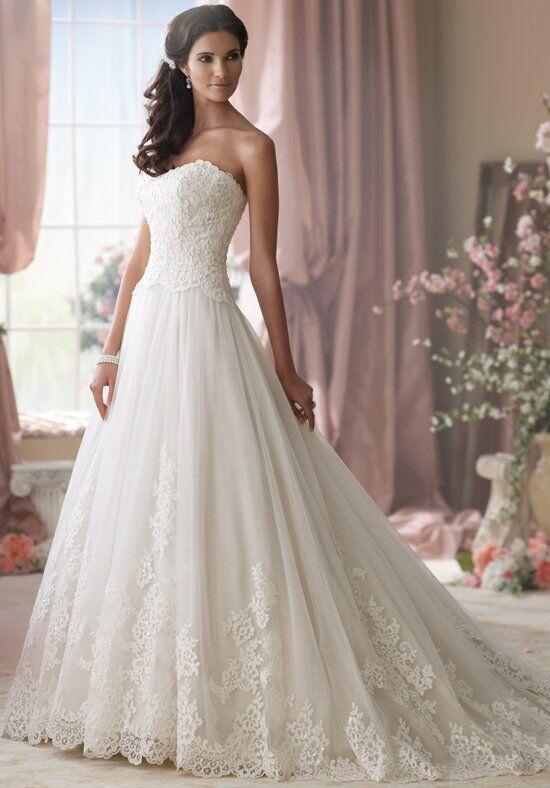 David tutera for mon cheri 114275 wedding dress the knot for Mon cheri wedding dress prices