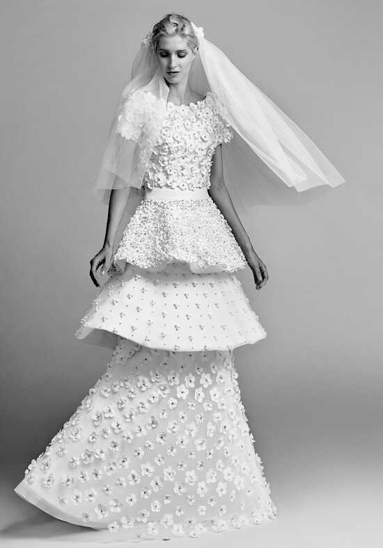 Viktor&Rolf Mariage Embroidery patchwork dress A-Line Wedding Dress