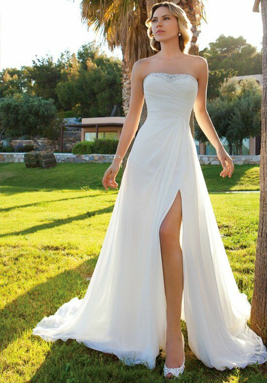 Demetrios DR201 A-Line Wedding Dress