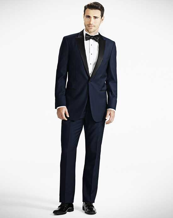 Generation Tux Midnight Blue Peak Lapel Tux Wedding Tuxedos + Suit photo