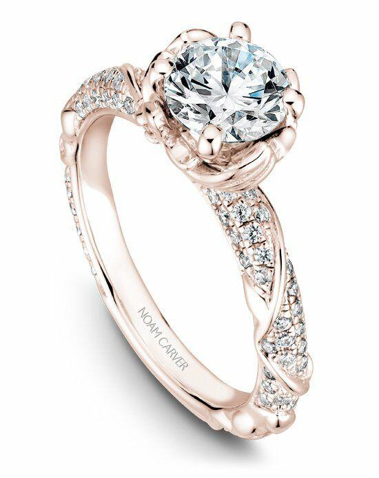 Noam Carver Unique Round Cut Engagement Ring