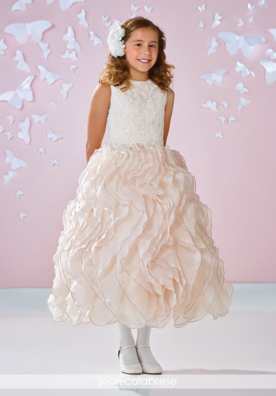 Joan Calabrese by Mon Cheri 117335 Ivory Flower Girl Dress