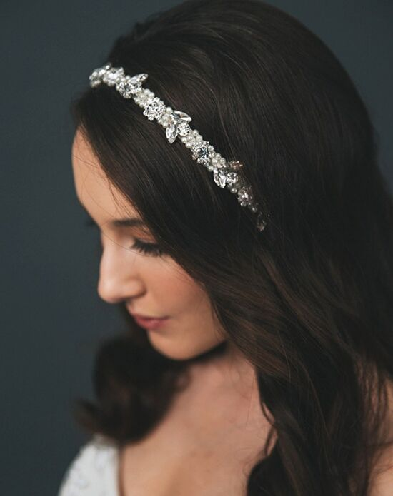 Davie & Chiyo | Hair Accessories & Veils Amara Headband Gold, Ivory, Pink, Silver, White Headband