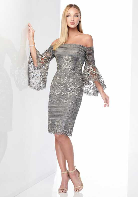 Social Occasions by Mon Cheri 218801 Gray Mother Of The Bride Dress