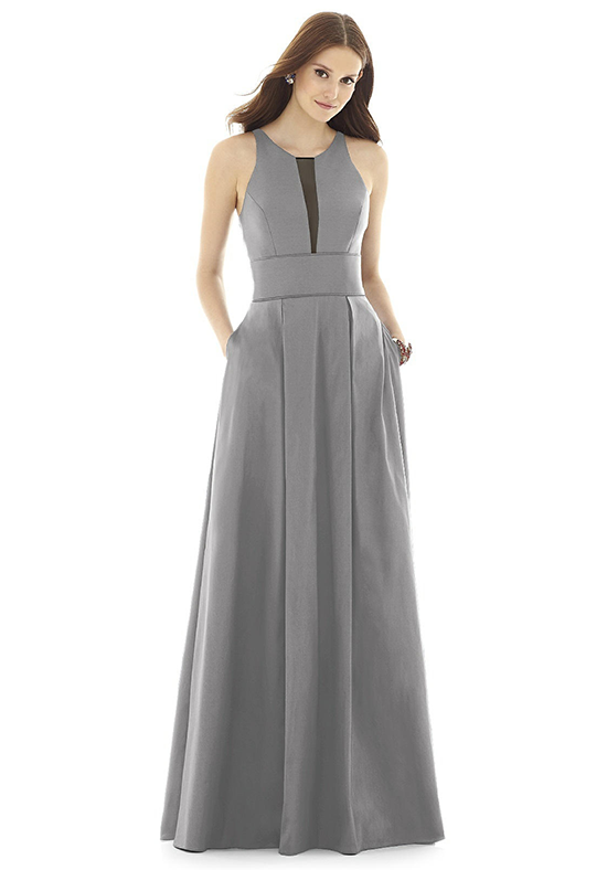 Alfred Sung D733 Halter Bridesmaid Dress