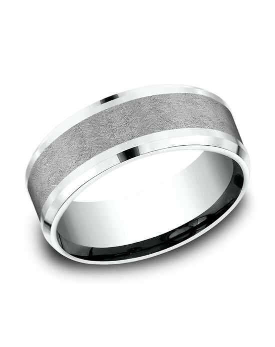 Benchmark CF458070GTA14KW White Gold,Tantalum Wedding Ring