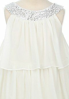 Kids Formal 3707 Silver Flower Girl Dress