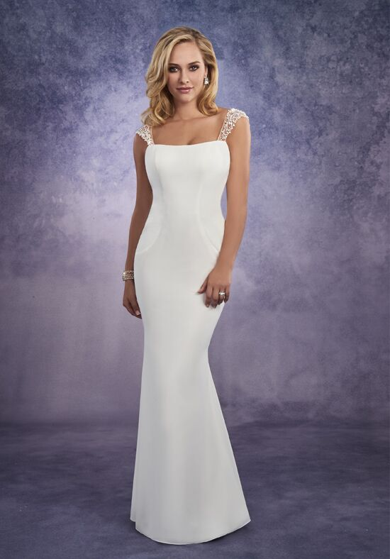1 Wedding by Mary's Bridal 2670 Sheath Wedding Dress