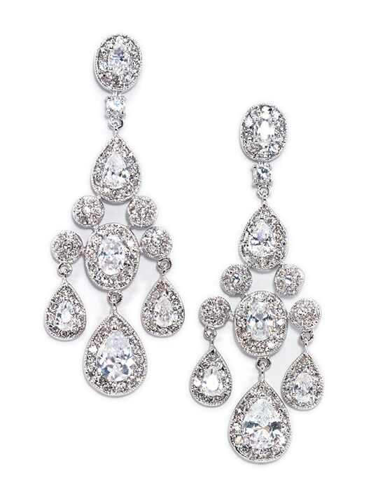 Anna Bellagio Elizabetta Chandelier Statement Earrings Wedding Earring photo